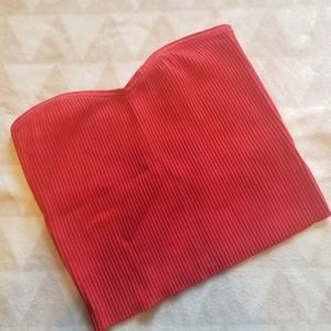 NWT UO Red Ribbed Crop Top